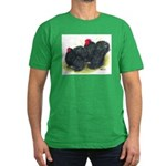 Black Frizzle Cochins2 Men's Fitted T-Shirt (dark)