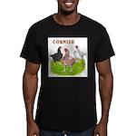 Cornish Trio Men's Fitted T-Shirt (dark)
