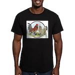 Belgian d'Uccle Bantams Men's Fitted T-Shirt (dark