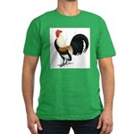 Dutch Bantam Rooster Men's Fitted T-Shirt (dark)