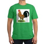 Dutch Bantam Rooster Men's Fitted T-Shirt (dark)