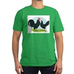 Black Dutch Bantams Men's Fitted T-Shirt (dark)