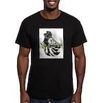English Trumpeter Dark Splash Men's Fitted T-Shirt
