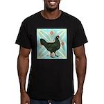 La Fleche Hen Men's Fitted T-Shirt (dark)