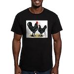 Black Langshan Chickens Men's Fitted T-Shirt (dark