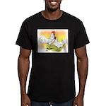 White Leghorn Chickens Men's Fitted T-Shirt (dark)