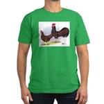 Red Leghorn Chickens Men's Fitted T-Shirt (dark)