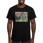 Marans Chickens Men's Fitted T-Shirt (dark)