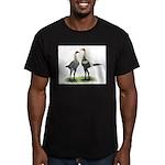 Lemon Blue Modern Games Men's Fitted T-Shirt (dark