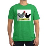 Black Sex-link Chickens Men's Fitted T-Shirt (dark
