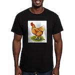 Golden Sex-link Hen Men's Fitted T-Shirt (dark)