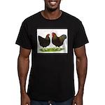 BLR Wyandottes Dark Men's Fitted T-Shirt (dark)