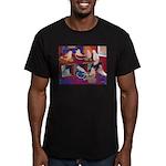 Impressionist Swallows Men's Fitted T-Shirt (dark)