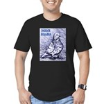 Parlor Roller Pigeon Men's Fitted T-Shirt (dark)
