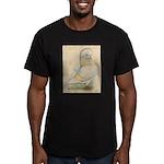 Indigo Tumbler Pigeon Men's Fitted T-Shirt (dark)