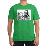 Pigeon Trio Men's Fitted T-Shirt (dark)