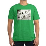 Moorhead Tumbler Pigeons Men's Fitted T-Shirt (dar