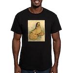Muffed Tumbler Pigeon Men's Fitted T-Shirt (dark)