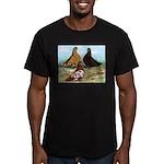 Shortfaced Tumbler Pigeons Men's Fitted T-Shirt (d
