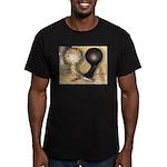 Jacobin Pigeons Men's Fitted T-Shirt (dark)