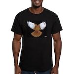 Domestic Flight Pigeon Men's Fitted T-Shirt (dark)