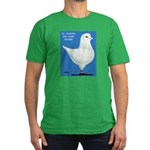 White King Pigeon Men's Fitted T-Shirt (dark)