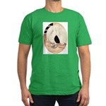 70s Indian Fantail Pigeon Men's Fitted T-Shirt (da