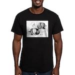 Marchenero Pouter Pigeons Men's Fitted T-Shirt (da