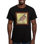 Bobwhite Framed Men's Fitted T-Shirt (dark)