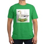 Snowy Mallard Hen Men's Fitted T-Shirt (dark)