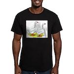 Embden Geese Men's Fitted T-Shirt (dark)