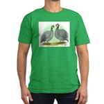 French Guineafowl Men's Fitted T-Shirt (dark)