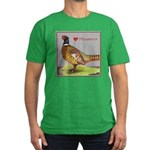 We Love Pheasants! Men's Fitted T-Shirt (dark)