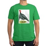 Blue Slate Tom Turkey Men's Fitted T-Shirt (dark)