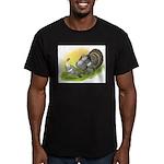 Narragansette Turkey Pair Men's Fitted T-Shirt (da