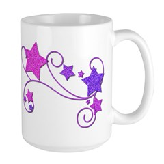 Glitter Stars Large Mug