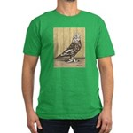Brown Mottle West Men's Fitted T-Shirt (dark)