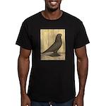 Brown Self West Men's Fitted T-Shirt (dark)