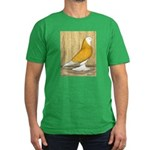 Yellow Bald West Men's Fitted T-Shirt (dark)