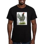 Blue OE Hen Men's Fitted T-Shirt (dark)