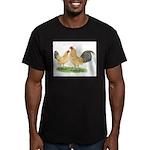 Blue-tail Buff OE Men's Fitted T-Shirt (dark)
