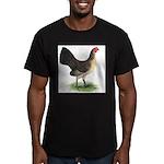 Brassy Back Hen Men's Fitted T-Shirt (dark)