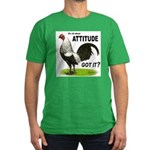 It's About Attitude Men's Fitted T-Shirt (dark)