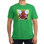 Flight Pigeon and Flowers Men's Fitted T-Shirt (da