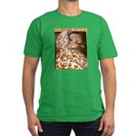 Teager Cap Pigeon Men's Fitted T-Shirt (dark)