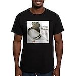 Brown Bar Cap Flight Men's Fitted T-Shirt (dark)
