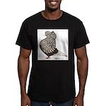 Brown Teager Cap Men's Fitted T-Shirt (dark)