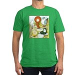 Pigeon Color Book Men's Fitted T-Shirt (dark)
