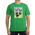 Plymouth Rock Rooster, Hen & Men's Fitted T-Sh