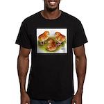 Red Leghorn Chicks Men's Fitted T-Shirt (dark)